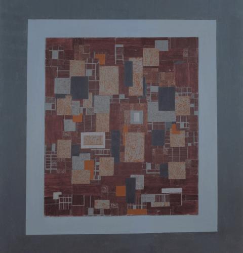Asetat Üzerine Karışık Teknik Pleksi Kutuda 96x62cm, 2002