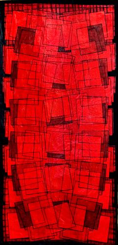 Kağıt Üzerine Karışık Teknik 143x68cm, 2008