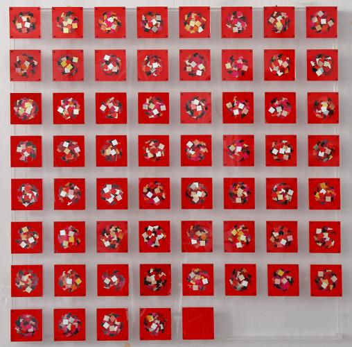 Kolaj Karışık Teknik Pleksi Kutuda 116x116cm, 2012