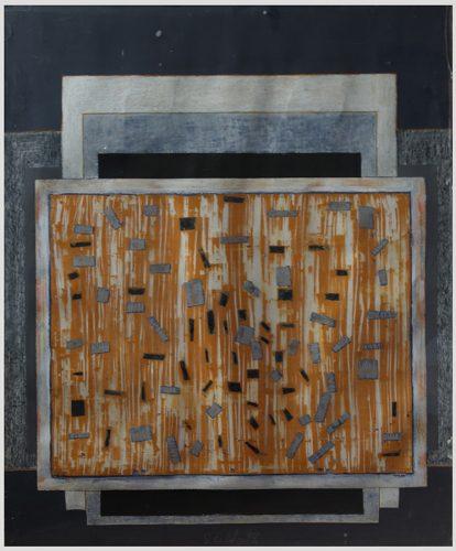 Kağıt Üzerine Akrilik Pleksi Kutuda 120x100cm, 1998